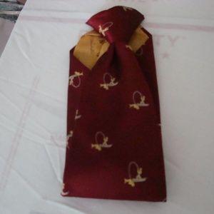 Tie Burgundy Clip-on Gold Custom Cravatieur 1970
